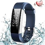 Fitness Armband Uhr mit Pulsmesser, Fitness Tracker Schrittzähler Aktivitätstracker Wasserdicht Herzfrequenzmonitor Smart Armbanduhr Pulsuhr mit Schlafmonitor GPS für Herren Damen Kinder