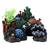 Acquario Rocce Artificiali Pietre sospese per Fish Tank Landscape Decoration Ornamento dell'acquario Mountain View Landscape