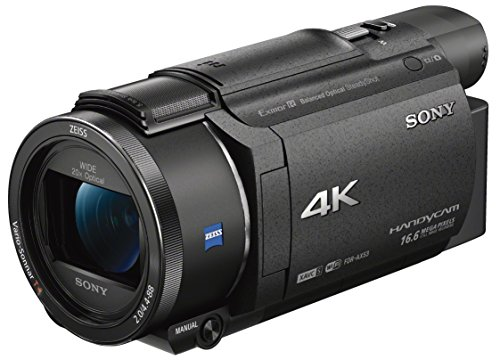 Sony FDR-AX53 4K Ultra HD Camcorder (20-Fach optischer Zoom, 5-Achsen Boss Bildstabilisation, NFC) schwarz - Digital-film-kamera
