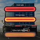 camion rimorchio Fanale posteriore a LED Indicatore di direzione Indicatore luminoso di stop Yctze Fanale posteriore a LED