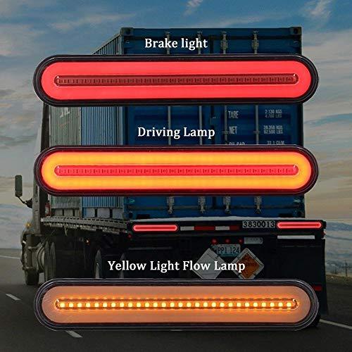 ler Rücklicht, 3 In 1 Sequentielles Fließendes Rücklicht Anhänger Rücklicht Stop-Turn-Bremslicht Für LKW-Bootsanhänger (1 Paar) ()