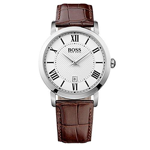 HUGO BOSS Man 1513136 Unisex Analogue Watch with White Dial Analogue Display - 1513136_BLANCO