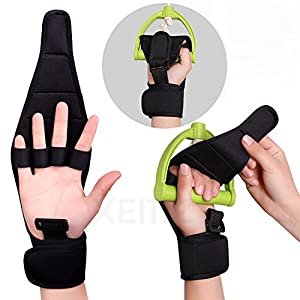 XEMZ Fingers Support Training Brace, Stroke Rehab Arthritis Gloves, Thumb Wrist Injury Recovery Splint, Finger Separator Hand Orthotics Carpal Tunnel, Joint Pain Relief Corrector - Any Age Women Wen