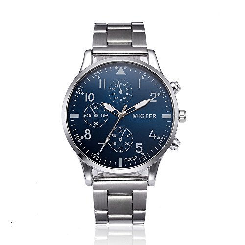Uhren Herren Uhrenarmband Analoge Quarz Armbanduhr der Art und Weisemann Kristalledelstahl Klassisch Uhr Mode Lässig Analog Quarz Uhr Luxus Exquisit Uhr,ABsoar