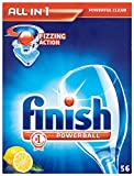 Calgonit Finish Powerball Alles in 1 Tabs, Citrus, 1er Pack (1 x 56 Tabs)
