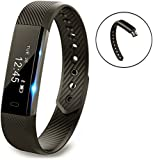 Fitness Tracker,Activity Tracker,Smart Bracelet Point Touch Pushmen YG3 Bluetooth Call Remind Remote Self-Timer Smart Band Calorie Counter Wireless Pedometer Sport Sleep Monitor Activity Tracker For Android iOS Phone(One pack)