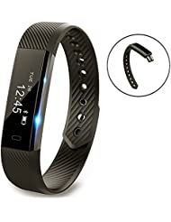 Fitness Armband Pushmen YG3 Fitness Tracker Point Touch Smart Armband Drahtloses Bluetooth Anruf Remind/Kalorienzähler/Schrittzähler/Schlafmonitor Kompatibel mit Android- und iOS-Smartphones