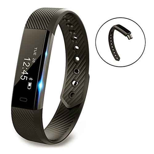 Smart Bracelet Point Touch Pushman YG3 Bluetooth Call Remind Remote Self-Timer Smart Band Calorie Counter Wireless Pedometer Sport Sleep Monitor Activity Tracker For Android iOS Phone,One Pack(Black)