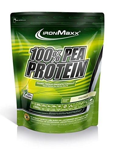IronMaxx 100 Prozent Pea Protein - Kokosnuss, 1er Pack (1 x 2.35 kg)