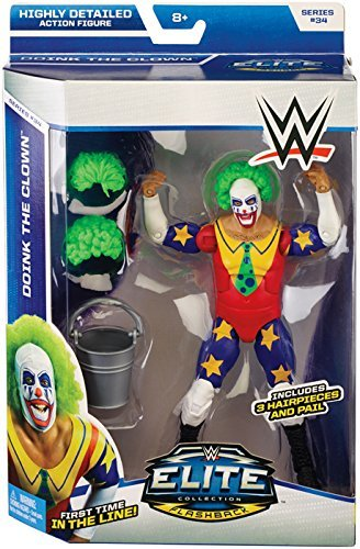 DOINK THE CLOWN - WWE ELITE 34 MATTEL TOY WRESTLING ACTION FIGURE by Wrestling by Mattel (Doink Wwe)