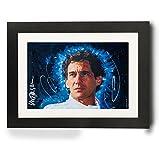 Sidney Maurer Original Portrait Of Ayrton Senna Framed Print
