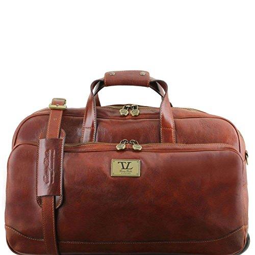 Tuscany Leather - Samoa - Sac à roulettes en cuir - Petit modèle - Marron