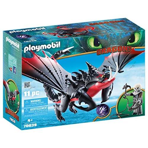 PLAYMOBIL DreamWorks Dragons Aguijón Venenoso y Crimmel, a Partir de 4 Años (70039) 5