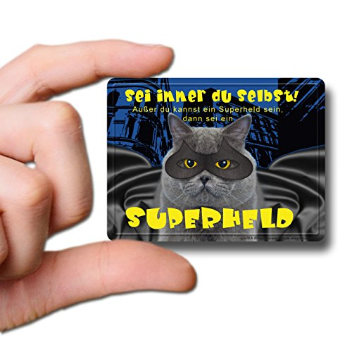 GUMA Magneticum 6112 Kühlschrankmagnet Sprüche Katze Superheld Humor lustig