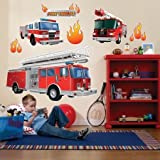 Party-Destination 159473 Fire Trucks Giant Wall Decals Test