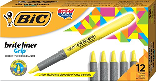 bic-highlighter-grip-caja-de-12-marcadores-fluorescentes-color-amarilla