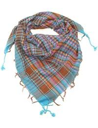 Lovarzi - Desierto bufandas azules - elegante y versátil shemagh bufanda multi color para hombres y mujeres