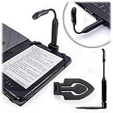 Tuff-Luv Spark Clip-On LED Lampe de lecture (Rechargeable par USB)- Noir