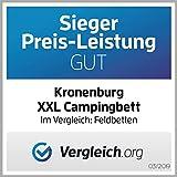 Kronenburg XXL Campingbett Feldbett 210 cm x 72 cm x 45 cm – Belastbarkeit bis 200 kg – in Schwarz - 2