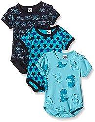Care Baby - Jungen Kurzarm-Body im 3er und 6er Pack, Blau (Dark Navy 778), 9 Monate (Herstellergröße: 74 )