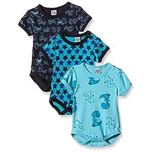 Care Baby, Body Bimbo, Maniche corte (pacco da 3),  blu (dark navy 778), taglia 98 cm