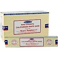 3x Californian weißer Salbei Satya Nag Champa Räucherstäbchen, Packungen 15g mit Souvenir Badge von Sterling... preisvergleich bei billige-tabletten.eu