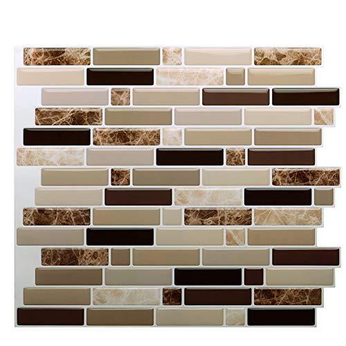 Vamos Tile Premium Anti Moho Peel y Stick azulejo Backsplash, pegar Backsplash...