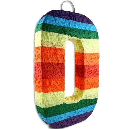 in Regenbogenfarben, 53x34x6cm, starten Sie bei Null, zum Zerschlagen ()