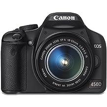 Canon EOS 450D Appareil photo numérique Reflex 12.2 Mpix Kit Objectif 18-55mm IS Noir (Reconditionné)