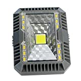 Mobestech - Luces LED solares para césped, impermeables, para exteriores, para jardín, patio, césped, parque de juegos (color negro)