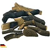 Etanol & etanol Chimenea accesorios macizo cerámica decorativa Maderas troncos (10unidades)