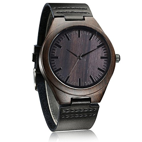 iMing-Handgefertigte-Uhren-Hlzernes-Korn-Natrlich-Holz-Echtes-Lederband-Armbanduhren-Geschenke