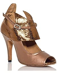 Onfly New Damen Latin Schuhe funkelnden Glitter Sandale Ballroom Schuhe/Fersen Performance/Professional Strass...