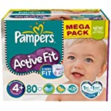 Pampers - P04275098 - Couches Active Fit T4 + 9/20kg format Méga - 80 couches
