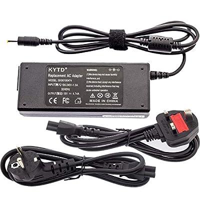 KYTD Laptop Charger for Acer N17908 V85 SADP-65KB PA-1650-02 Notebook Adapter Power Supply Emachines E627 E625 E640 E525 Aspire E15 E14 E5-571 E1-571 5750 Output 19V 42A 65W Tip 7mm