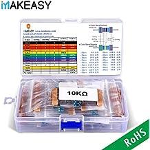 Conjunto de Resistores VANYE Resistencias Electrónicas 17 Valores 1% Surtido de Kit de Resistencia para