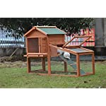 BUNNY BUSINESS Rabbit Hutch with Integrated Run and Enclosure, Rabbit Hutches Rabbit Runs 140 x 65 x 100 cm (COVER ONLY) 8