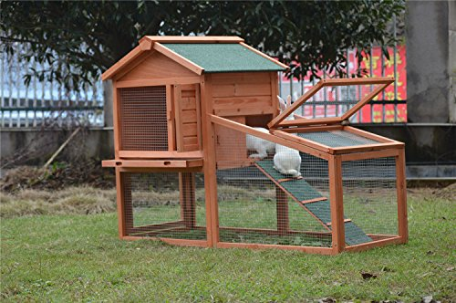 BUNNY BUSINESS Rabbit Hutch with Integrated Run and Enclosure, Rabbit Hutches Rabbit Runs 140 x 65 x 100 cm (COVER ONLY) 2
