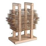 Lampada da tavolo ecologica decorativa colore di marrone chiaro di legno naturale (frassino) stile moderno rustico 1*40W E27 - escl