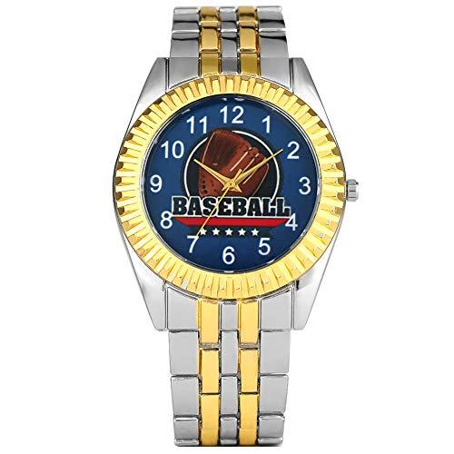 Exquisite Quarz-Analoguhr für Herren, kreatives Baseball-Handschuhe, Muster-Zifferblatt für Männer, Mode arabische Ziffern, Design Armbanduhr für Teenager -