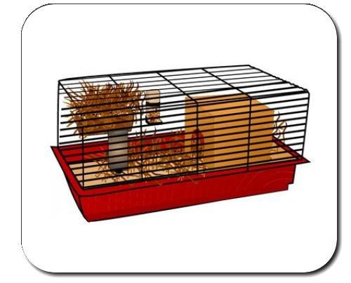Mauspad mit der Grafik: Haustier, gerbil, Schutzraum, Bur, Bettzeug, Inland, Hamster, Fach ein, Tier, Wasser, Käfig, Nagetier