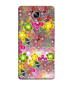FUSON Designer Back Case Cover for Oneplus 3T (Butterflies Garden Trees Stars Bright Best Wallpaper)