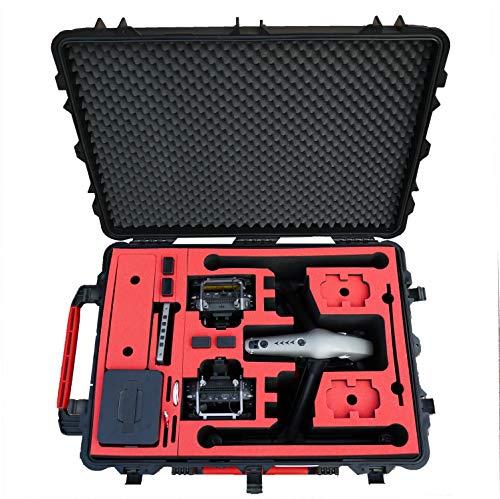 Professioneller Transportkoffer für DJI Inspire 2 - Landing Mode - Platz fuer X4S/X5S - 20 Batterien, Objektive, Deckel im Peli 1630 Koffer von MC-CASES - 2