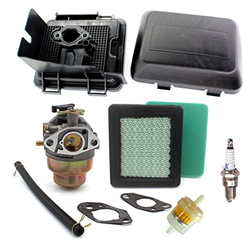 Aisen Carburetor Air Filter Cover Fuel Filter Kit For HONDA GCV135 GCV160 Carburettor