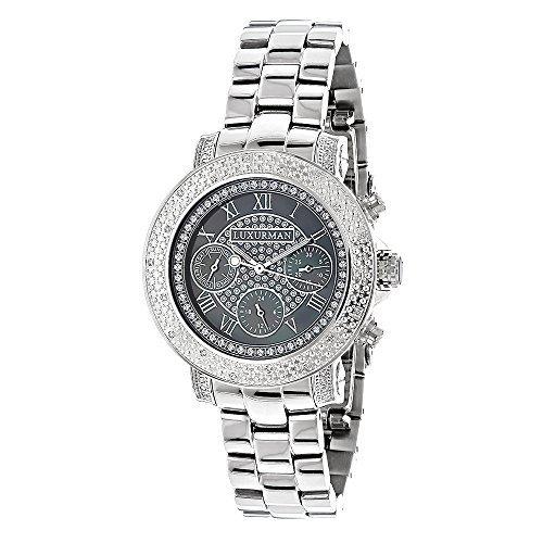 LUXURMAN 967245 - Reloj para mujeres, correa de acero inoxidable color plateado