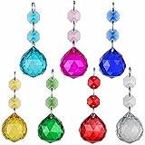 H&D 30mm Ball Prism Rainbow Maker Collection Hängekörbchen-Sonnenfänger aus Kristall Kronleuchter Hochzeit Bevorzugungen, 7Stück