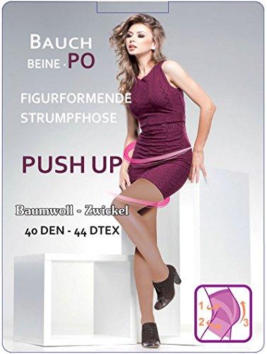 SOCKS PUR Push Up-Strumpfhose, 40 den Figur formende Strumpfhose. 1 STÜCK