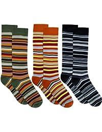3pares muy cálido niños térmica de calcetines con Ringel Diseño, Jungen/Ringel, 27 - 30