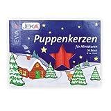 Ewa-Jeka Puppenkerzen rot 10x70 mm 20 Stück im Pack - Markenqualität