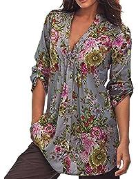 a387a92f77a17 Amazon.es  tallas grandes mujer - Túnica   Blusas y camisas ...
